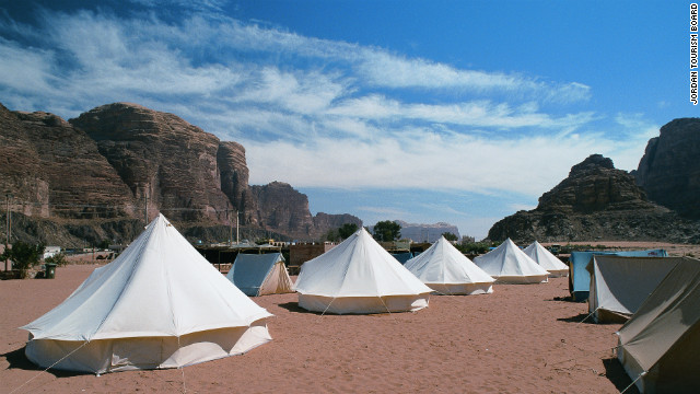 Tents in the Wadi Rum.