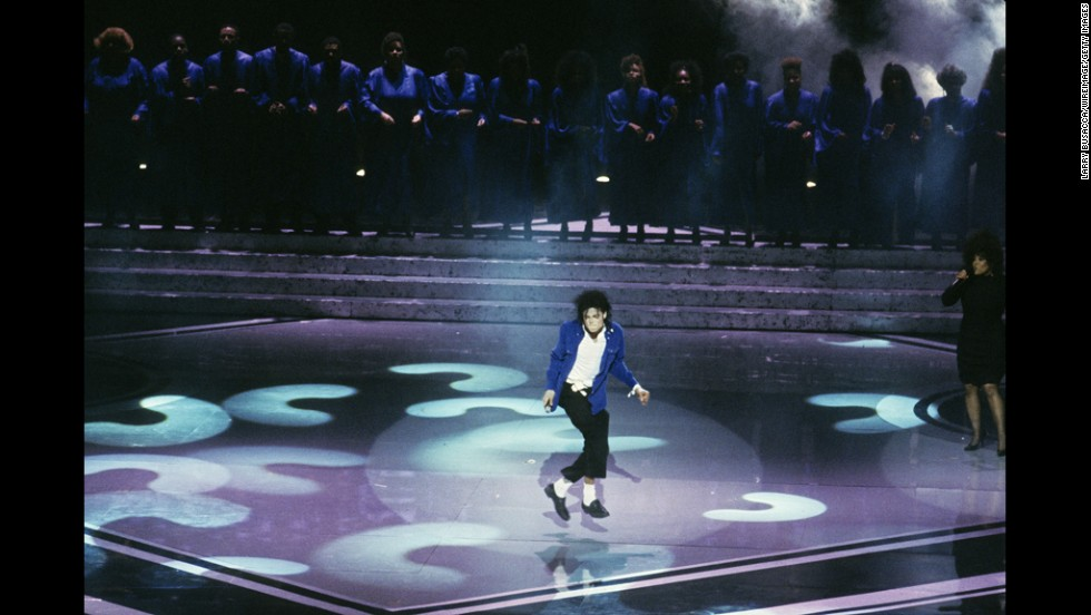 Jackson performs in concert circa 1991 in New York.