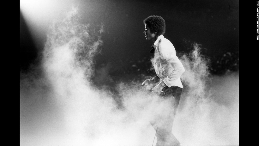 Michael Jackson performs with The Jacksons in New Orleans on October 3, 1979.
