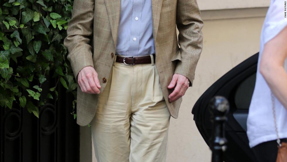 Woody Allen leaves his hotel in Paris.