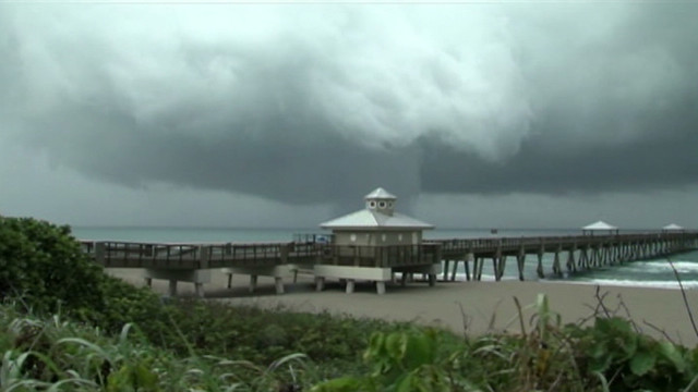 Debby produces waterspout