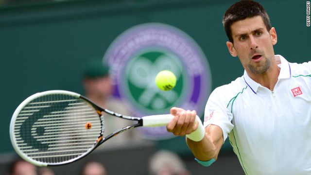 Serbia's Novak Djokovic won comfortably in his first match since losing the French Open final earlier this month.