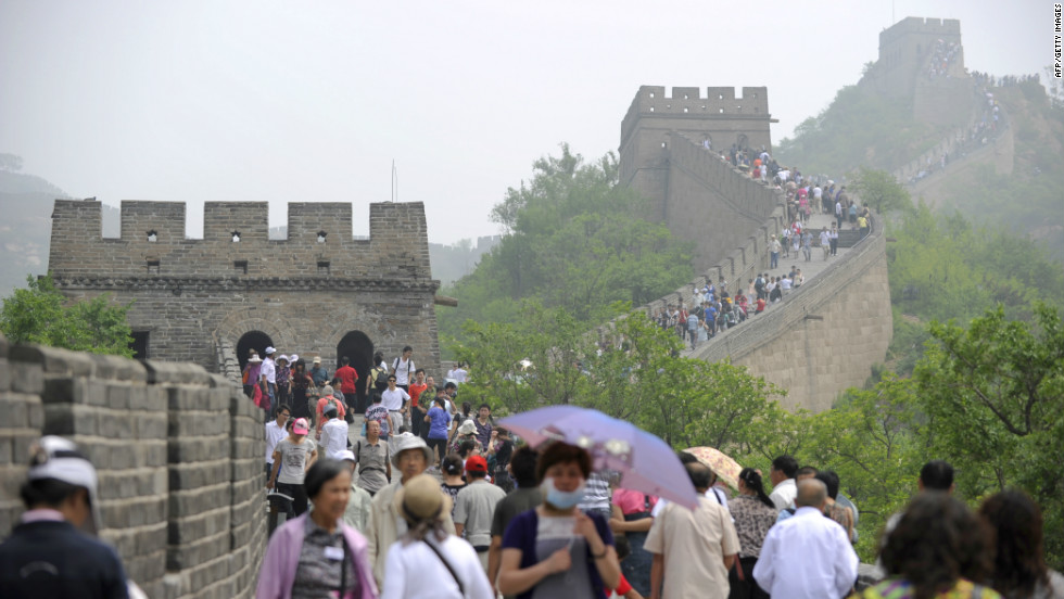 Tourism is big business in China. The Great Wall is the world's most visited UNESCO site, with 16 million domestic visitors and 8.2 million international visitors, according to the Global Heritage Fund.
