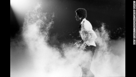 Michael Jackson performing with The Jacksons in New Orleans on October 3,1979.