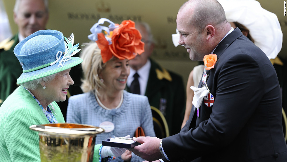 Trainer Peter Moody also met the British monarch following the horse's dramatic triumph.