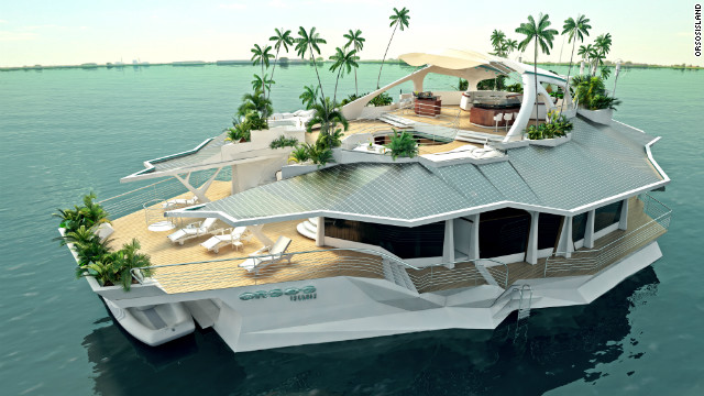 The $6 million manmade floating island  CNN.com