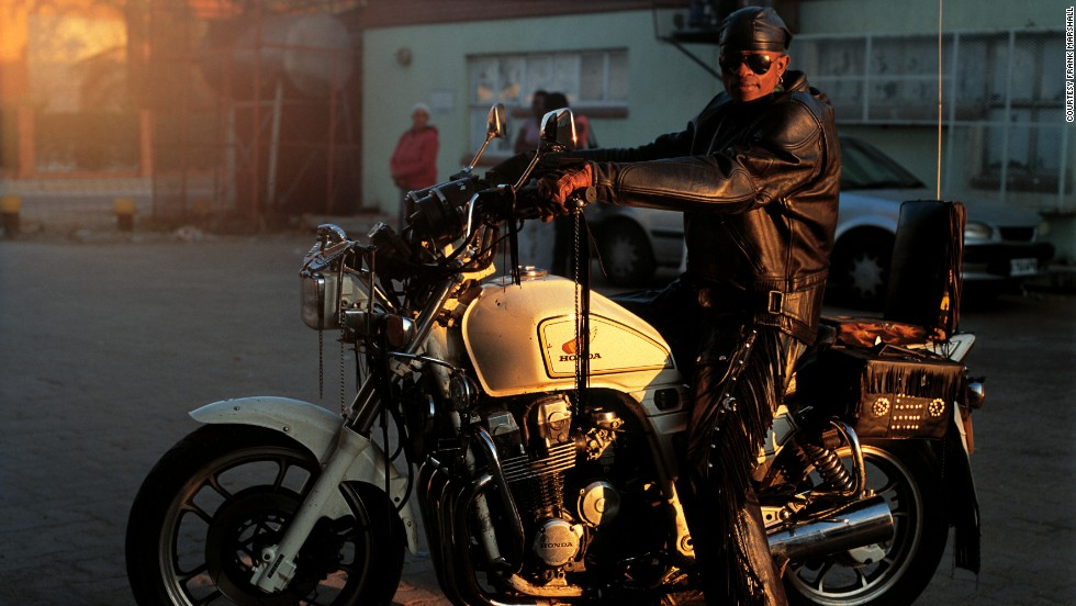 """'Hardcore (Hellrider),' 2012. Rather than Hell's Angels, Gunsmoke believes the rockers are increasingly seen as guardian angels. """"Kids follow us around. Parents approach us. We're there for a good cause actually. We help people on the streets at night,"""" he said."""