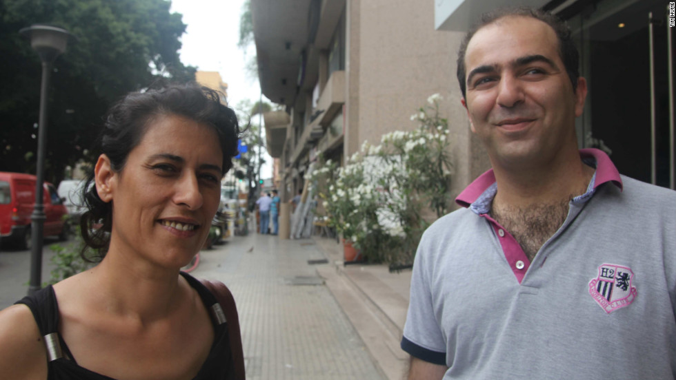 YNCA president Layla Serhan (left) and executive manager Danny Kalakech in Beirut, Lebanon. The pair say the group often comes under threat in its hometown from religious elements that oppose its approach.