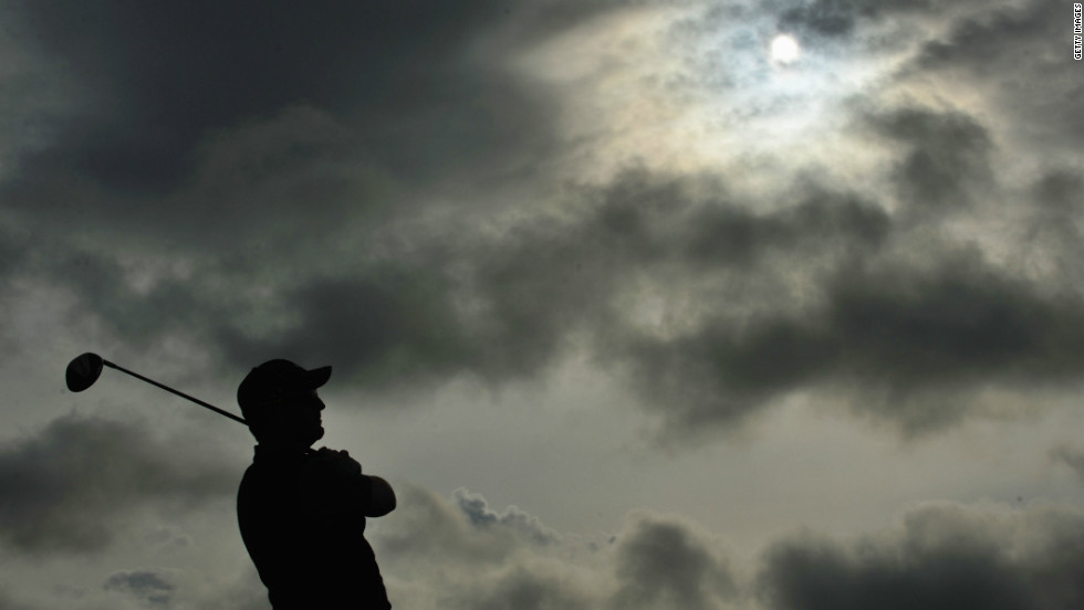 He says it is easier to wear them, no matter the conditions -- such as here at the 138th British Open at Turnberry in 2009.