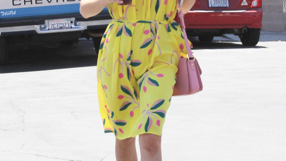 Selma Blair strolls around Hollywood.