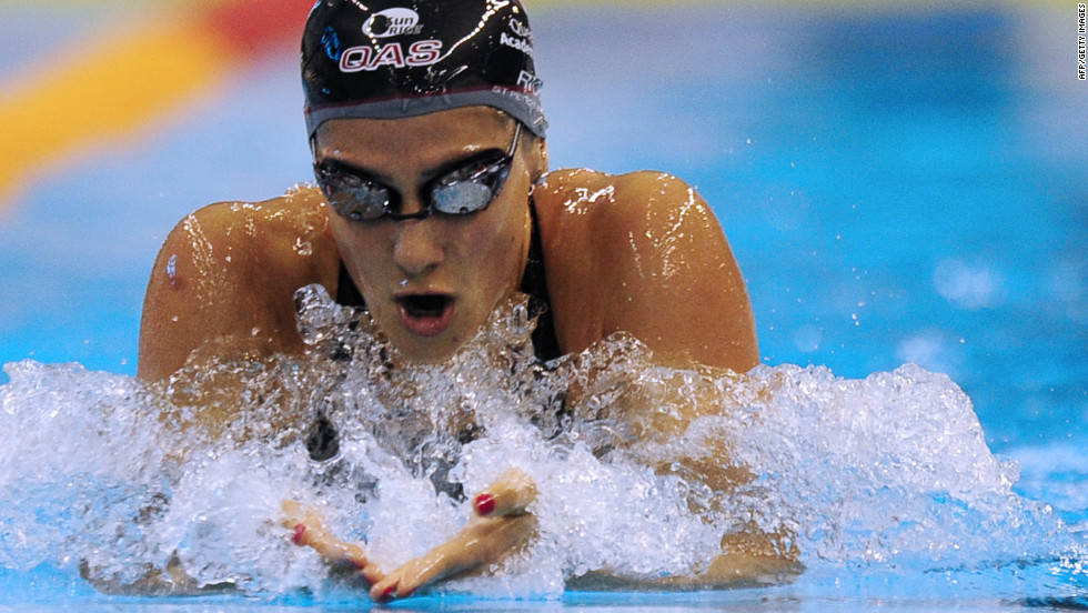 She set world records at the 2008 Olympics -- her 200m IM time has since been beaten, but Rice retains the 400m IM landmark.