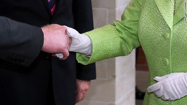 Significance of queen's handshake