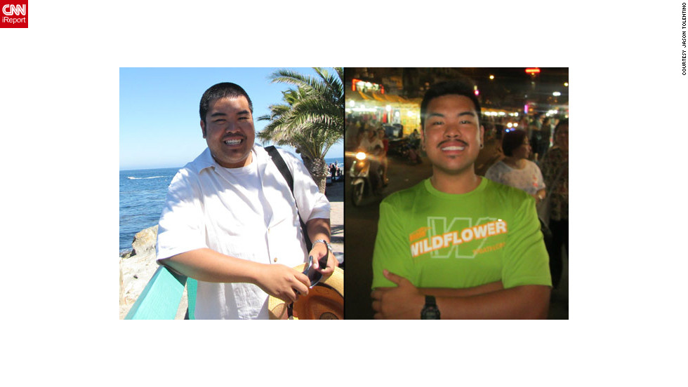 "<a href=""http://ireport.cnn.com/docs/DOC-802208"">Jason Tolentino</a> before and after his full body transformation with fitness app Nike+."