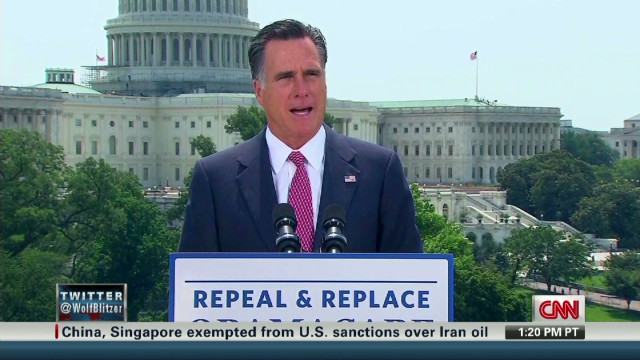 Romney's health care response
