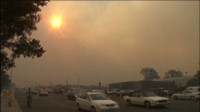 Colorado residents evacuate before fire