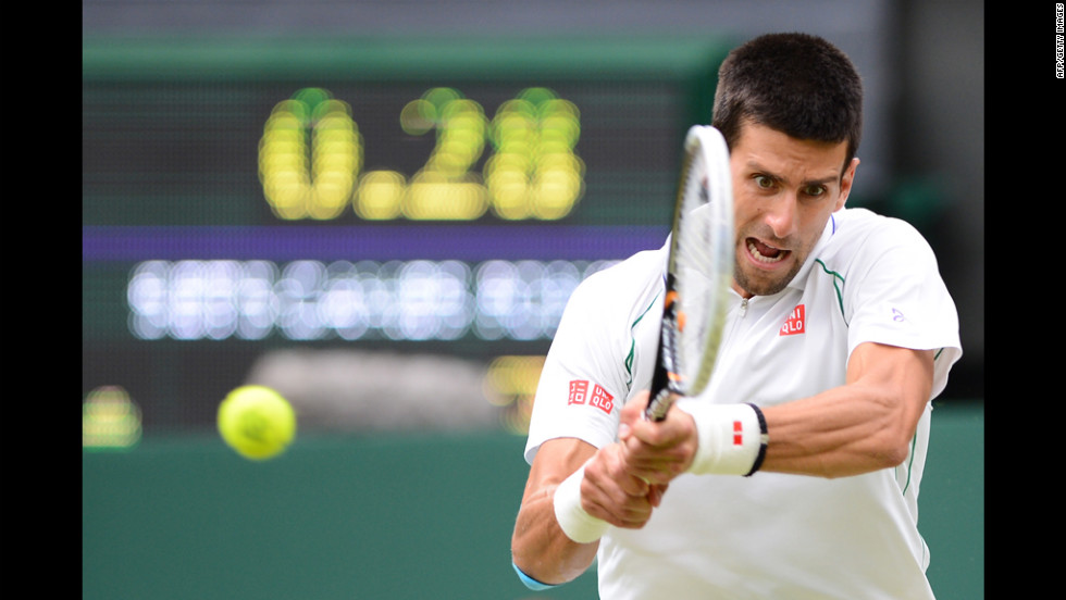 Serbia's Novak Djokovic plays Czech Republic's Radek Stepanek on Friday.