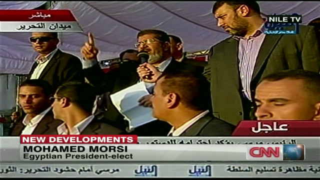 Morsi 'salutes' all people of Egypt
