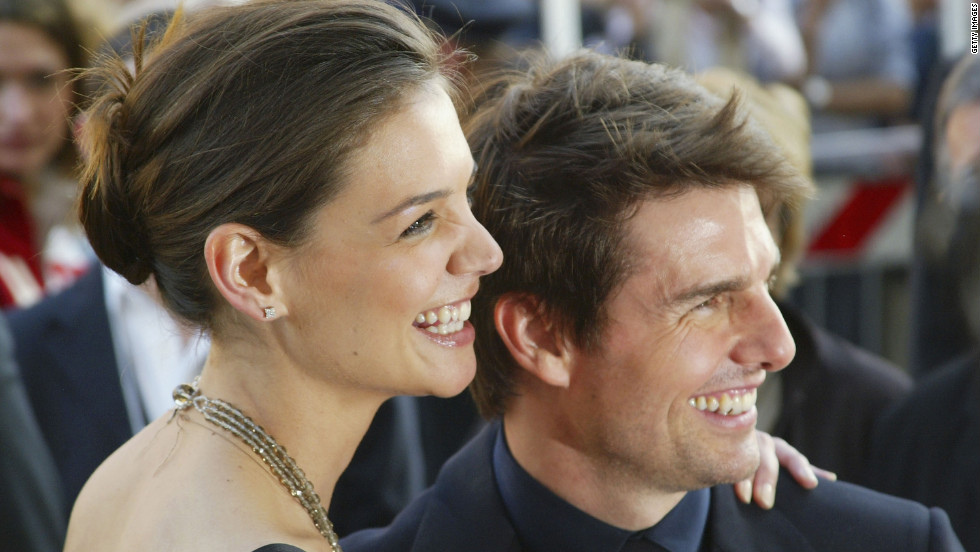 In April 2005, Cruise and Holmes attend an awards ceremony in Rome.