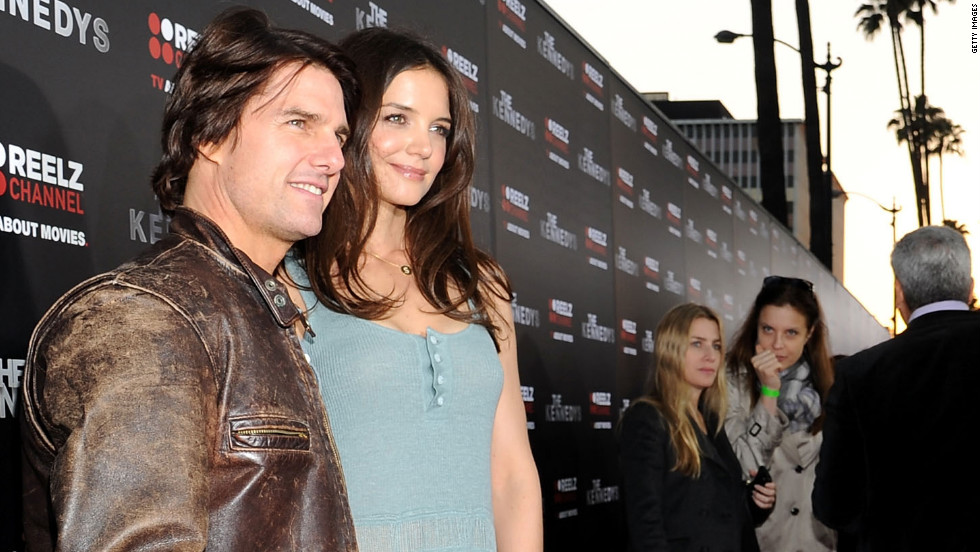 "The couple attend the premiere of Holmes' miniseries ""The Kennedys"" in March 2011."