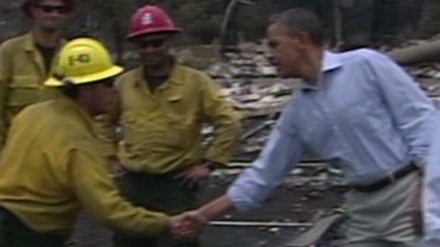 Obama praises Colorado firefighters