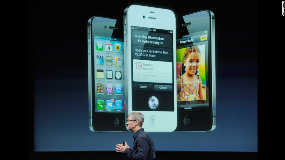 "The iPhone 4S, released in 2011, expanded on the iPhone's innovations with its high-resolution screen and Siri, Apple's voice-activated virtual ""assistant."""