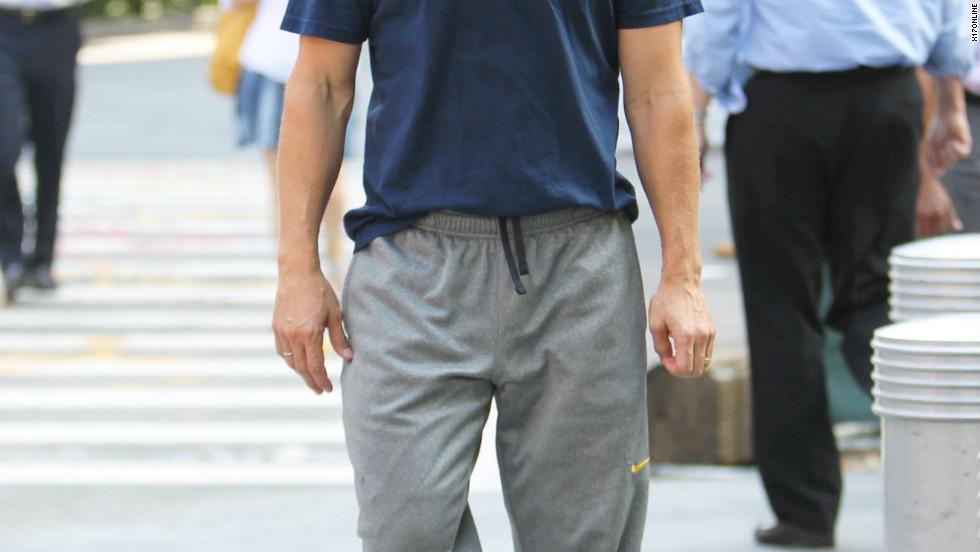 Matthew McConaughey roams around New York City.