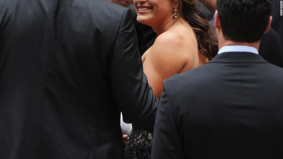 """""""Law & Order: Special Victims Unit"""" actress Mariska Hargitay attends the wedding."""