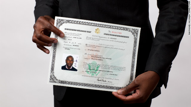Demande de naturalization 93 par marriage vows