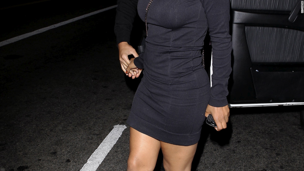 Christina Milian goes to a club in Hollywoood.