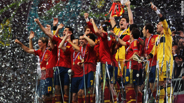 Spain celebrates historic Euro 2012 win