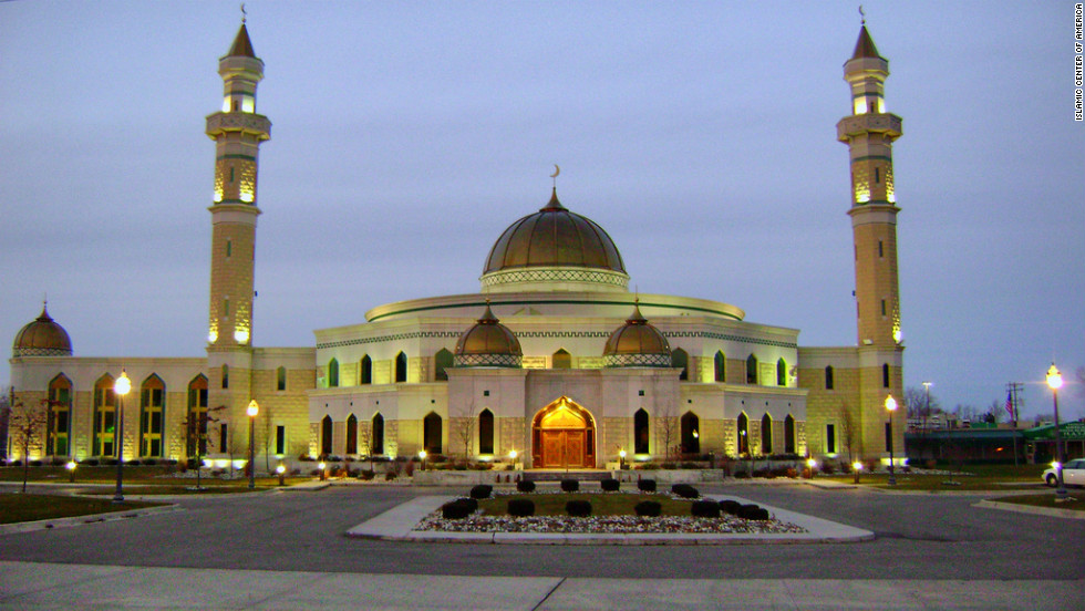 The design of the Islamic Center of America was inspired by houses of worship in Turkey, India and other nations.