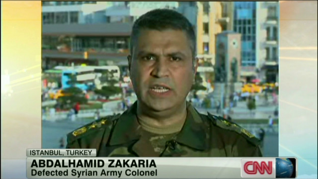A Syrian military defector