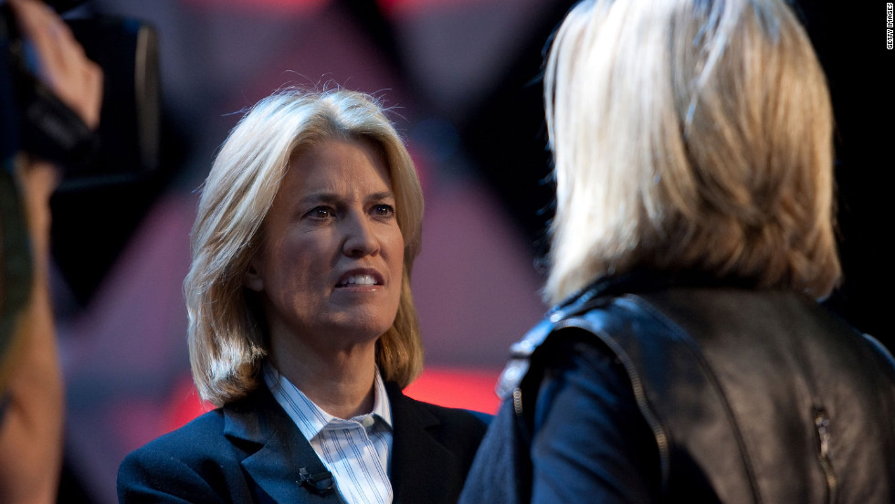 "Fox News journalist Greta Van Susteren rehearses for the ""Kaleidoscope"" Thanksgiving Day special in 2009."
