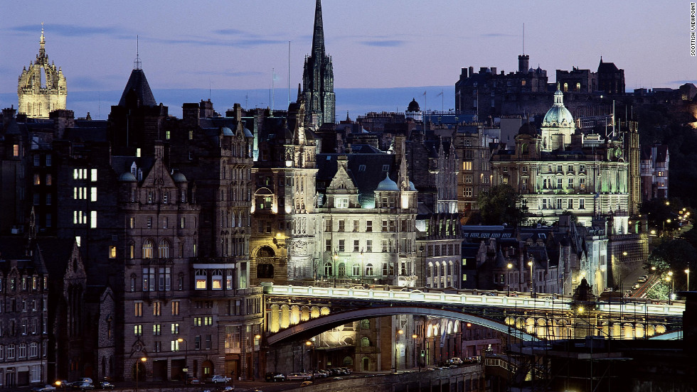 "While many may see Edinburgh's beauty from North Bridge in the foreground to Edinburgh Castle in the distance, Ian Rankin's Inspector John Rebus views the city as a ""crime scene waiting to happen."""