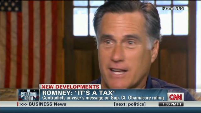 "Romney: ""It's a tax"""