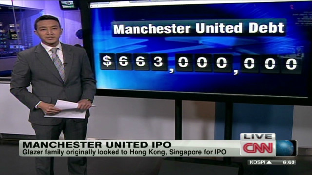 Manchester United heads to Wall Street