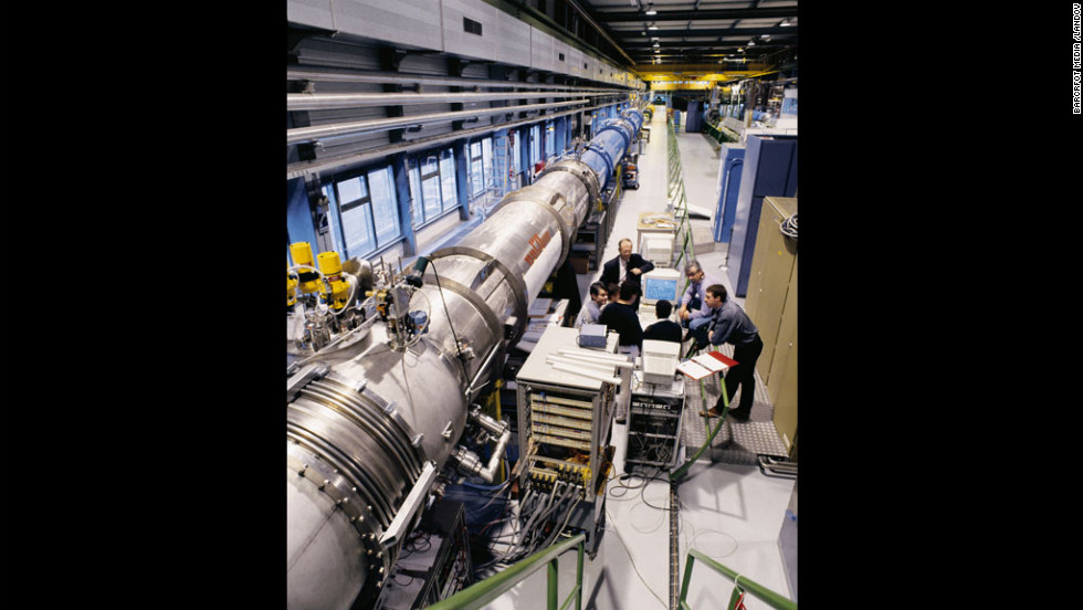 At the Large Hadron Collider at CERN, scientists smash particles into each other hoping to draw other, as-yet-unseen particles into existence, and could also find evidence of dark matter. The LHC is officially shut down for about two years while it receives maintenance and upgrades.