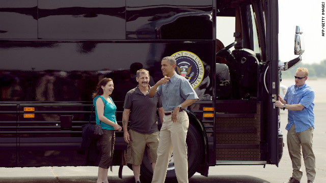 Dueling Obama, Romney bus tours