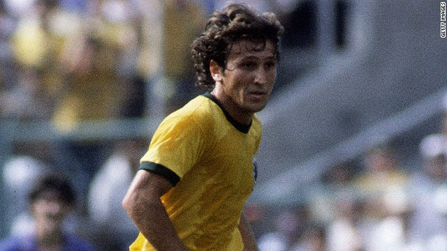 Midfielder Zico starred alongside fellow playmaker Socrates in Brazil's team of 1982.