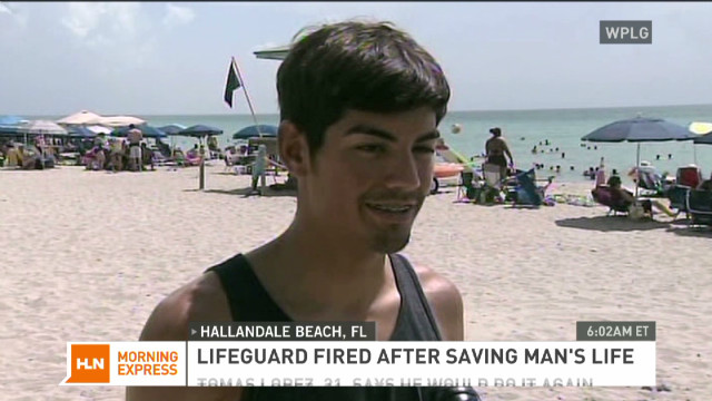 Lifeguard fired after helping save a life