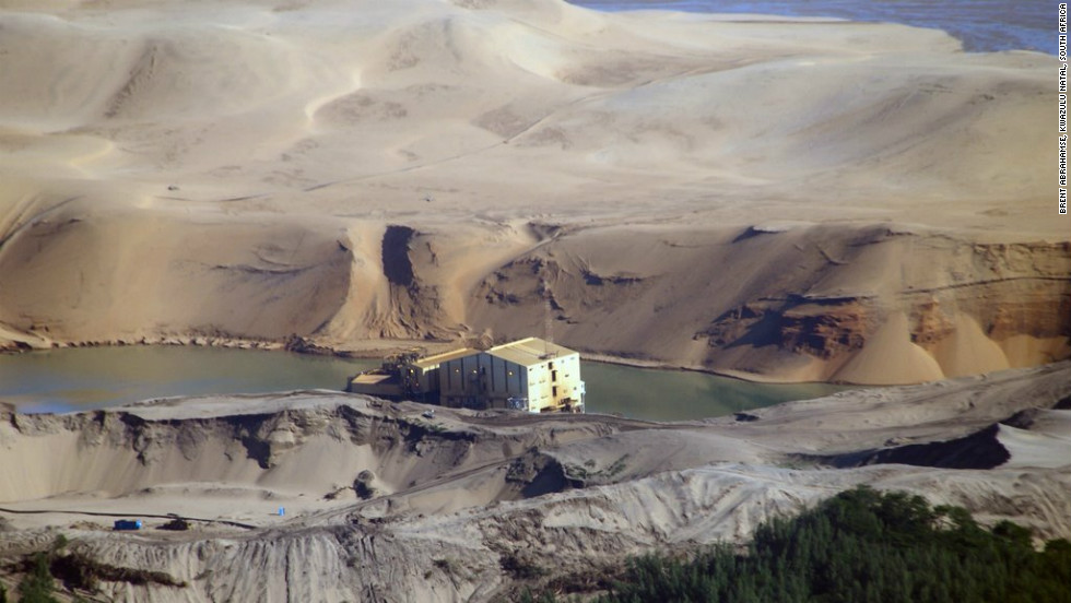 Mining companies are eager to dig inside the vast sand dunes along South Africa's east coast for minerals.