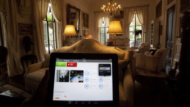 AT&T Digital Life, a home automation system due next year, is demonstrated at a home in New Orleans in May.