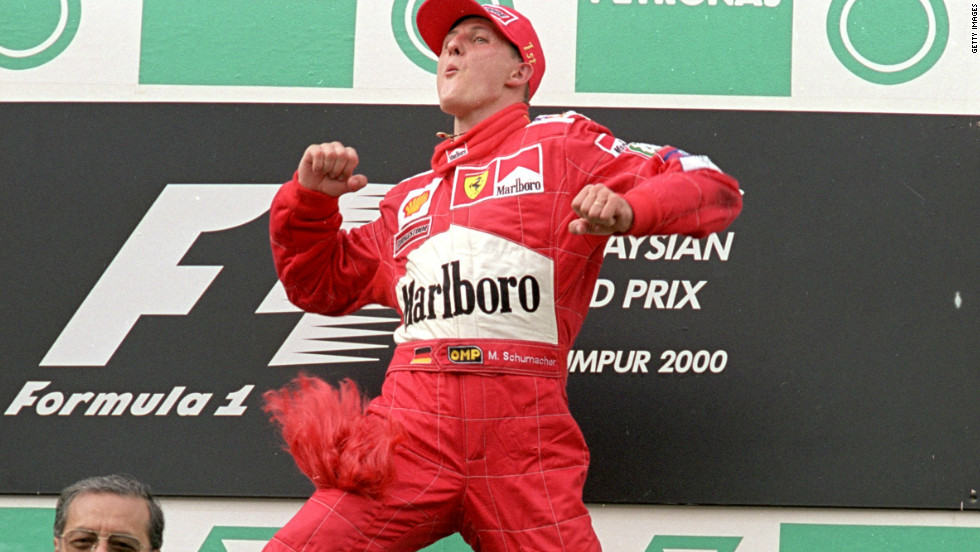 Ferrari are one of Formula One's most celebrated teams. But, by year 2000, it had been 21 years since the legendary Italian manufacturer produced a drivers' champion. Step forward Michael Schumacher, who claimed the title for Ferrari in 2000 and in each of the following four seasons.
