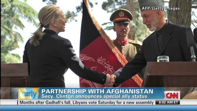 Clinton announces Afghan ally status