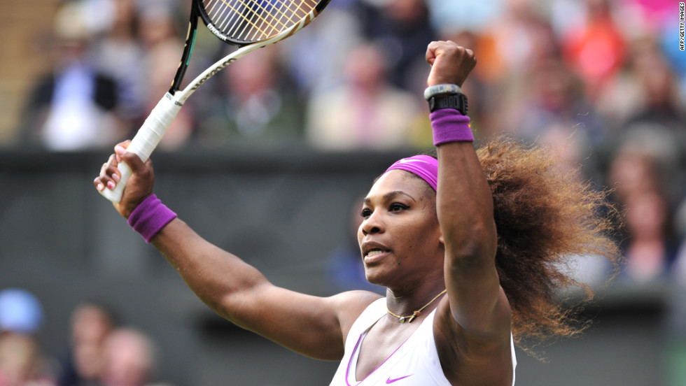 Williams reacts during a play against Radwanska. She finished the tournament with 102 aces, three times as many as the the next closest woman player, Sabine Lisicki, who had 34.