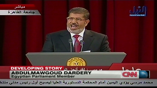 Egyptian MP reacts to Morsy declaration