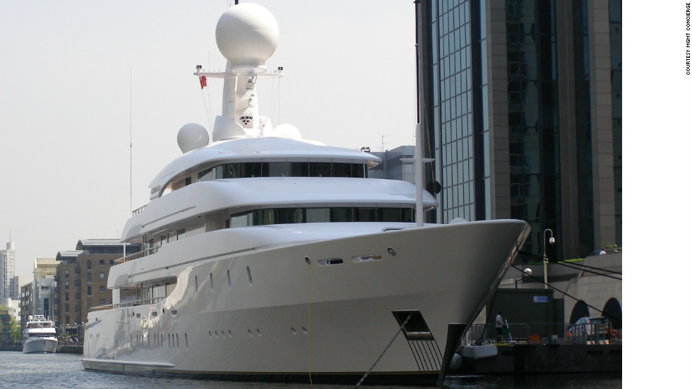The mega-rich and their superyachts have already started to descend on London's docklands for the Olympics, starting on July 27.