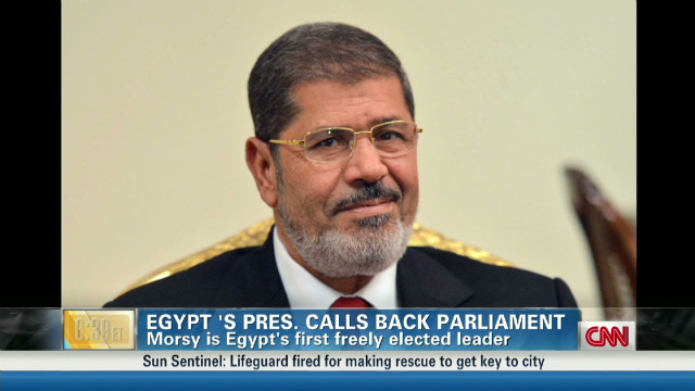 Egypt mood after Morsy's government move