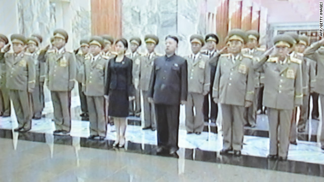 Kim Jong Un takes in a Disney show