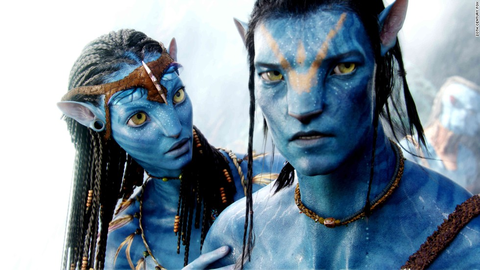 """Avatar,"" a 2009 science fiction film written and directed by James Cameron, features animated blue creatures called the Na'vi."